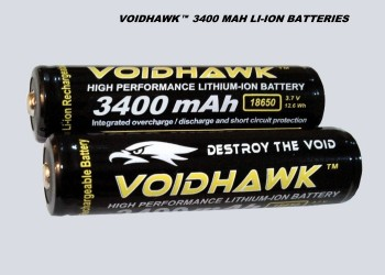 LITHIUM-ION RECHARGEABLE BATTERIES 3.7v 3400mAh 18650 PROTECTED