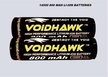 LITHIUM-ION RECHARGEABLE BATTERIES 3.7v 800mAh 14500 PROTECTED