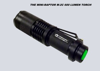 Mini-Raptor-M2C 600 Lumen Flashlight.