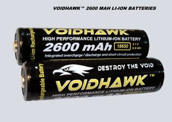 LITHIUM-ION RECHARGEABLE BATTERIES 3.7v 2600mAh 18650 PROTECTED